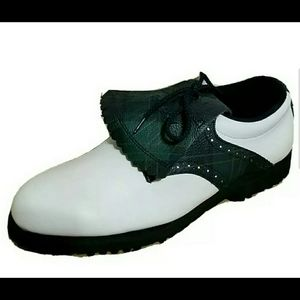 FootJoy GreenJoy Plaid Kiltie Golf Shoes Cleats 7M